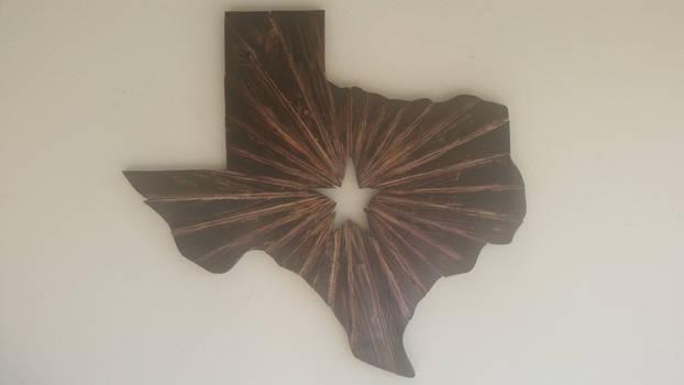 Wooden Texas Starburst