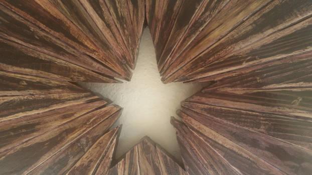 Center Starburst in Wooden Texas