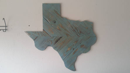 Turqoise Reclaimed Wooden Texas