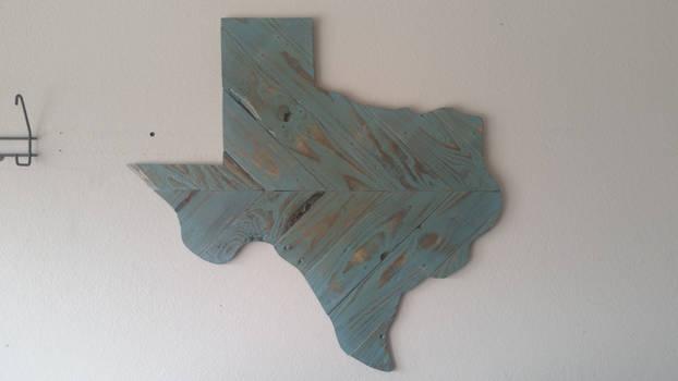 Turqoise Reclaimed Wooden Texas