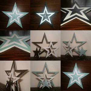Reclaimed Wooden 3 Star Set