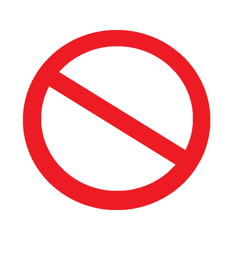 Free signage UK The prohibition sign indicates actions that you MUST NOT do It is recognized by the bold red circle with a diagonal bar running from the top left to