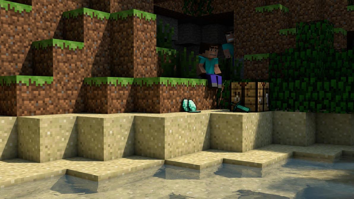 Minecraft Herobrine 3D by Alz512