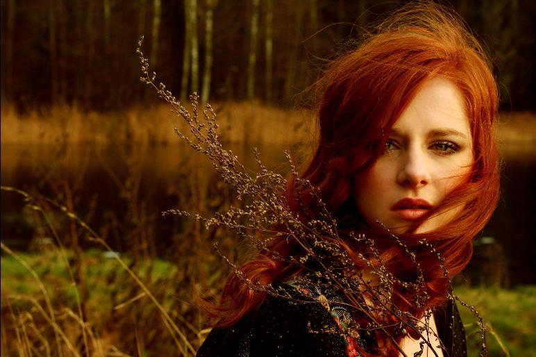 Фотоарт Девушки с рыжимикраснымирыжеватыми...