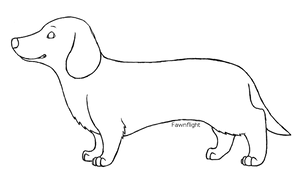 Dachshund Lineart