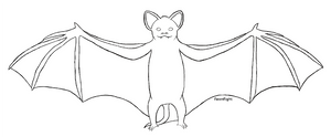 Bat Lineart