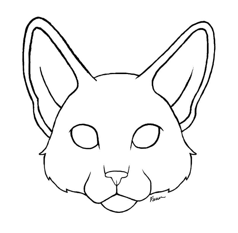 Line Art Cat : Cat face lineart new by fawnflight on deviantart