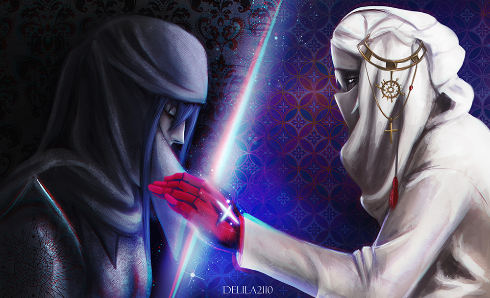 DGM AU Persian Mage and Ancient Warrior by Delila2110