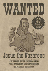 Jesus Wanted Poster by rowanseymour