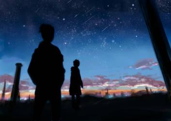 shooting stars by NadzomiViro