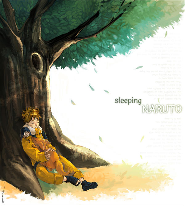 NARUTO - Sleeping Naruto by smallshouts