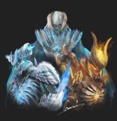 DMC5 Trio Devil Triggers by chururi