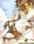 Don Quijote y los molinos.