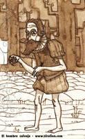 El hombre salvaje. Boceto 1 by sirelion80