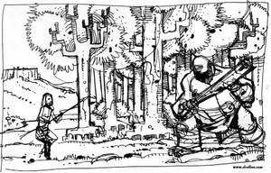 El hombre salvaje. Boceto 2 by sirelion80