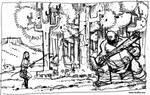 El hombre salvaje. Boceto 2