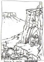 El hombre salvaje. Boceto3 by sirelion80