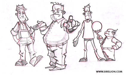 Cartoon sketches