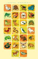 Avatar Animal Alphabet! by chiou