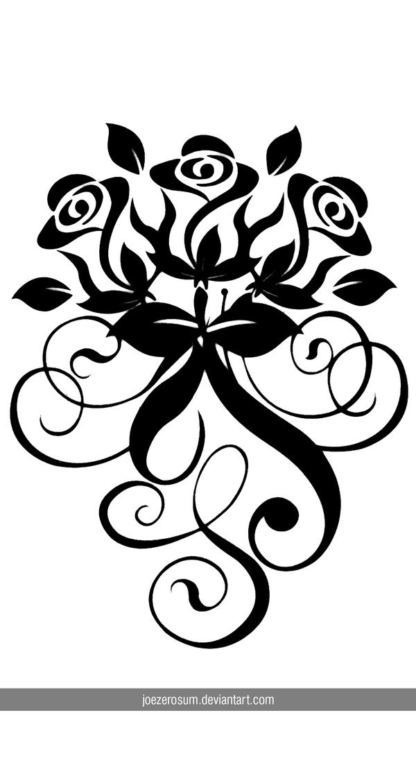 Rose Swirl Vector by joezerosum