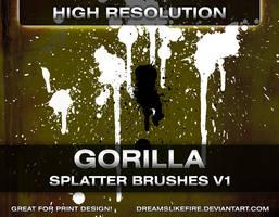 Gorilla Splatter Brushes v1 by joezerosum