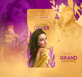 PURPLE AND GOLD / KAITLYN DEVER // WEB