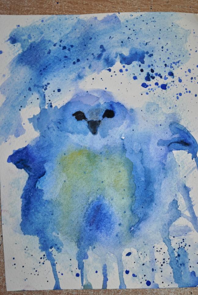 Blue Bird watercolor by bezag