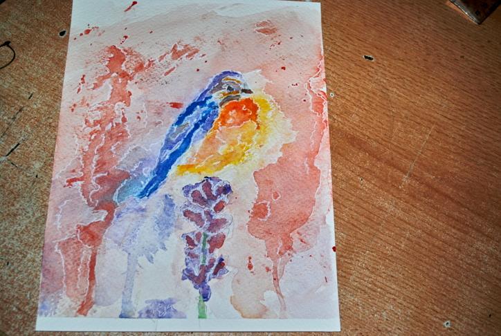 Bird watercolor by bezag