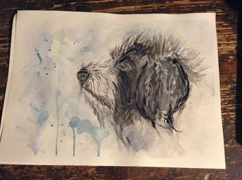 Puppy Saga watercolor by bezag