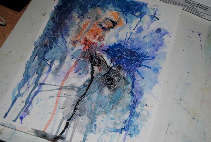raven soul Watercolor by bezag