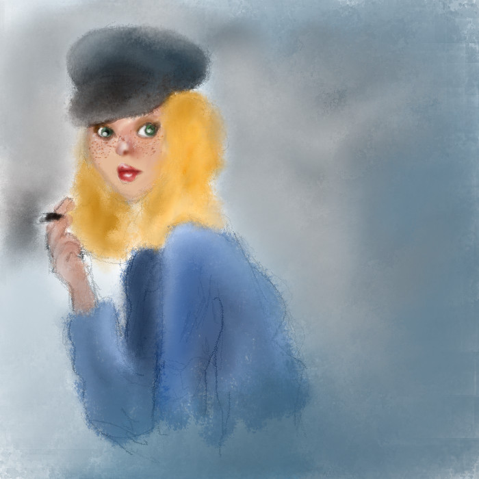 woman smoke by bezag
