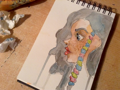Color girl watercolor by bezag