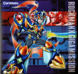 Rockman X Gigamission cardass manga and cards by digi148