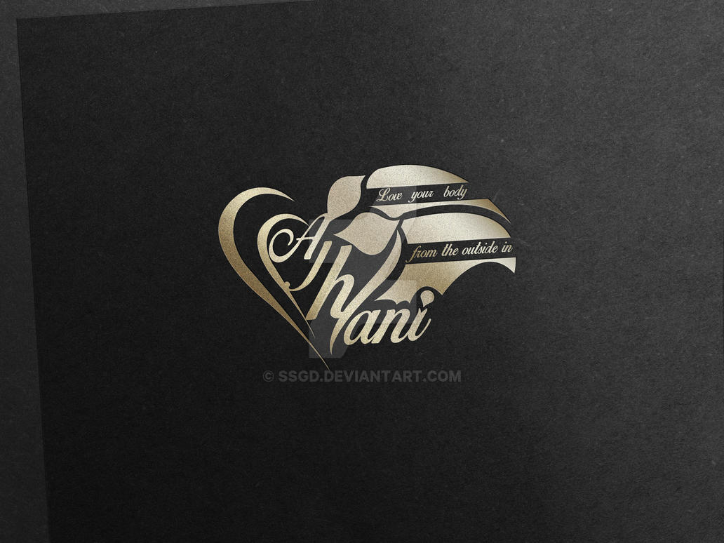 ajhani logo and business card custom project by SSGD
