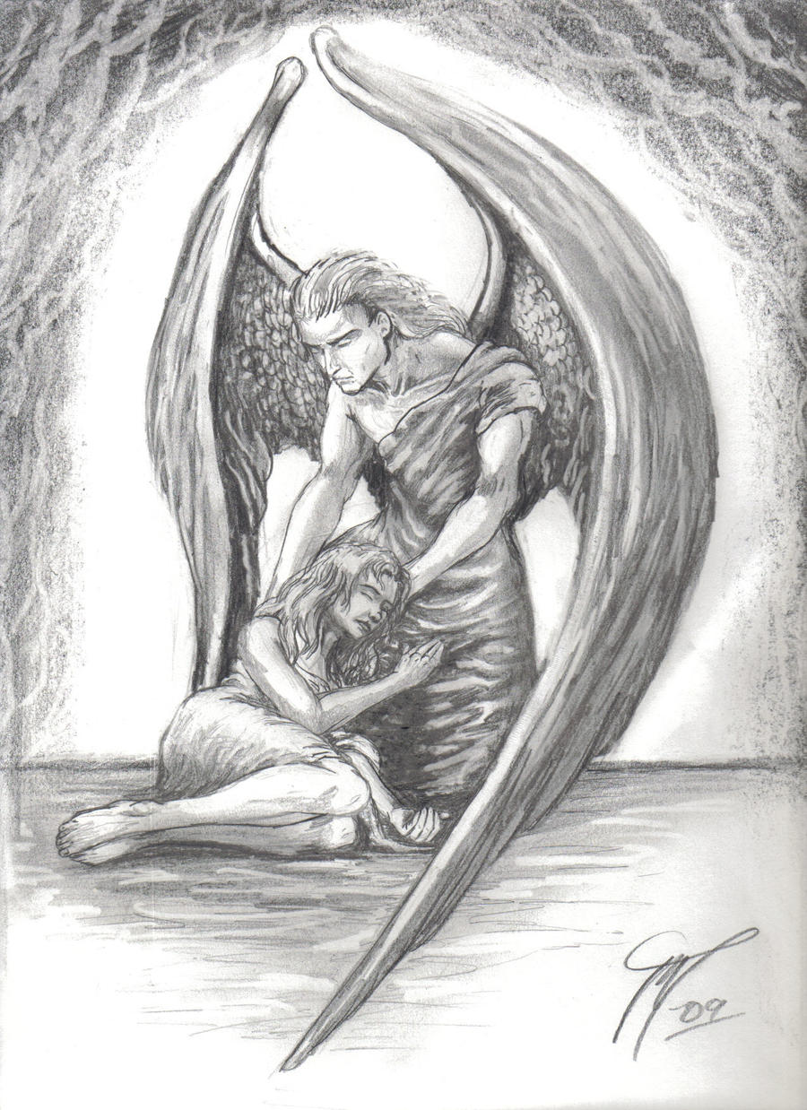 Guardian Angel Tattoo Sketches guardian angel by Star...