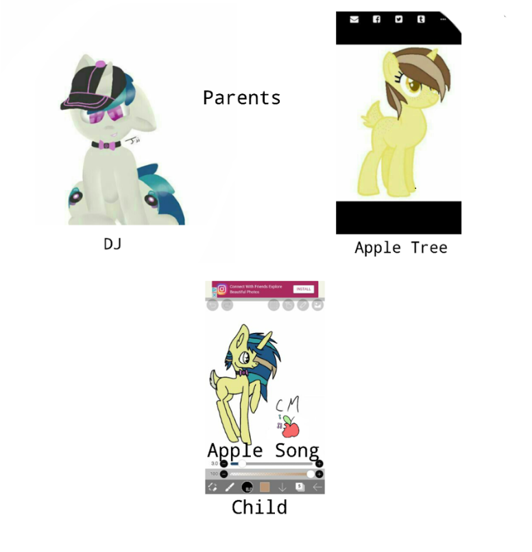 New Oc Apple Song (Breedable adoptable from friend by Journeyjj
