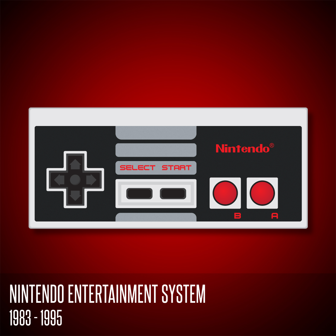 nintendo entertainment system controller by deebeeart on. Black Bedroom Furniture Sets. Home Design Ideas