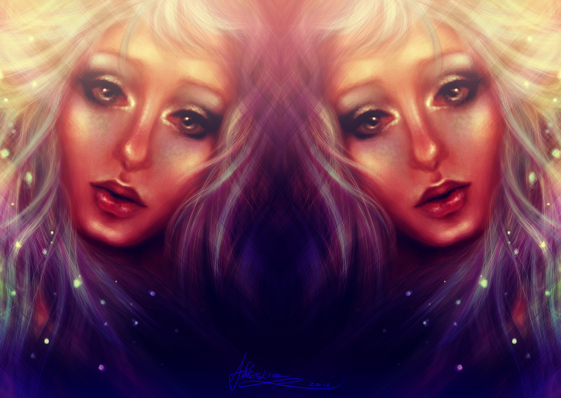 Mirrored Blue by Anngelise