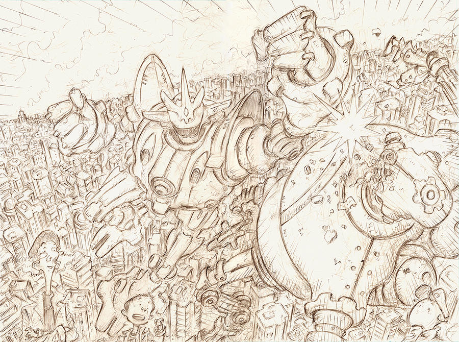malinky robot short pencils by sonny123