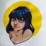 Violet-eyed girl