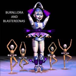 Burnllora And Blastereenas by piotr182xx