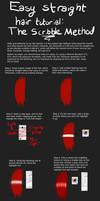 Hair Tutorial: The Scribble Method by DarkLikeVader