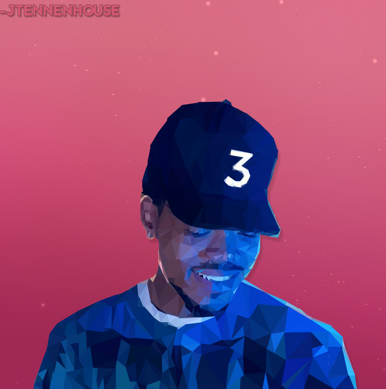 Coloring book download link chance the rapper -  Low Poly Chance The Rapper By Jtennenhouse