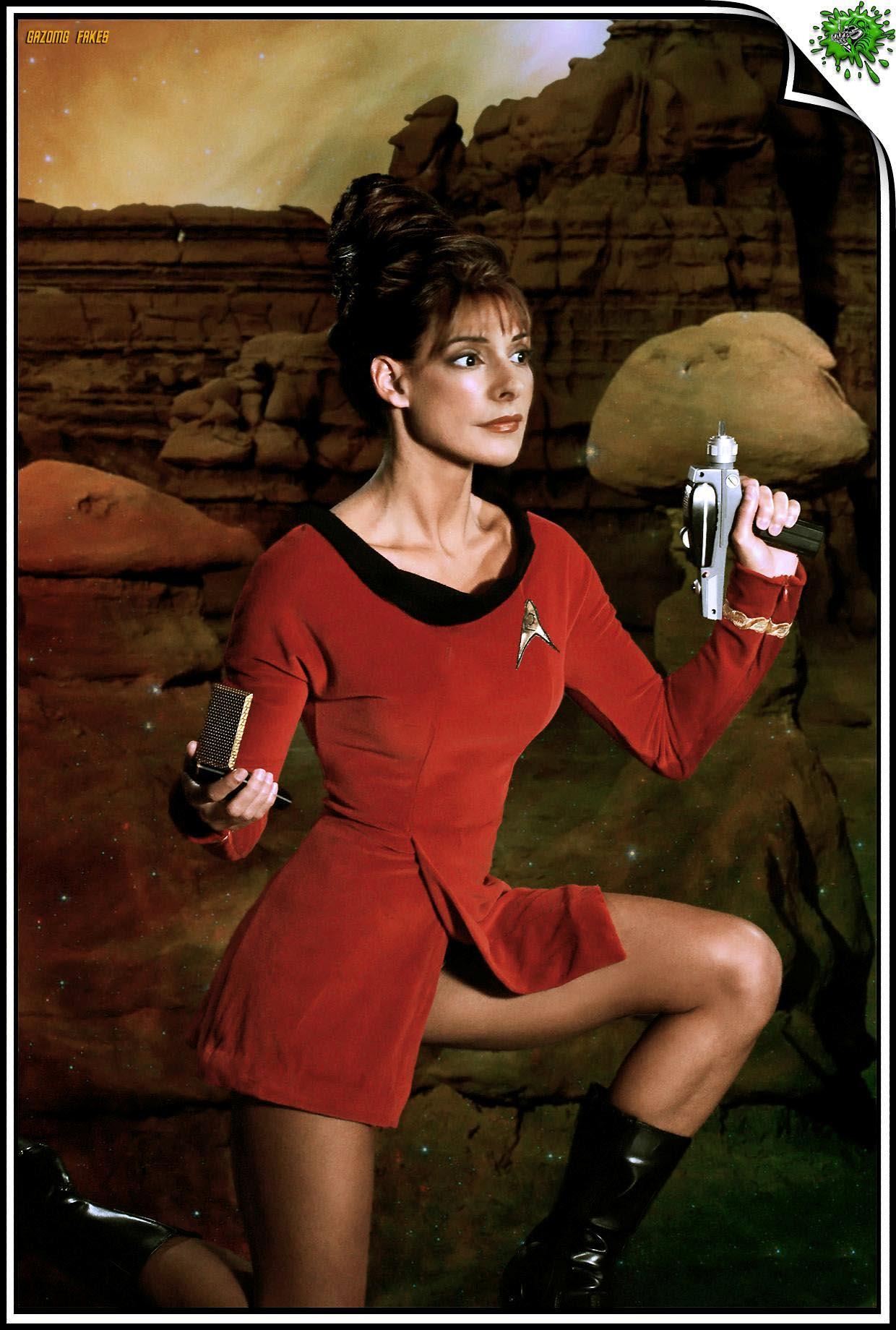 Deanna Troi Marina Sirtis by gazomg on DeviantArt