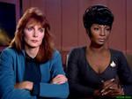Nyota Uhura and Beverly Crusher in Star Trek