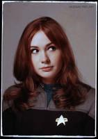 Karen Gillan in Celebrity Star Trek by gazomg