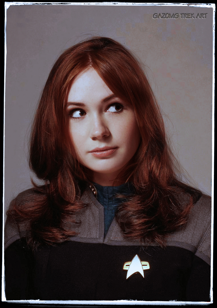Karen Gillan in Celebrity Star Trek by gazomg