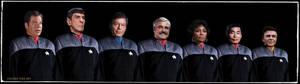 Original Star Trek Crew in DS9 Uniforms Updated