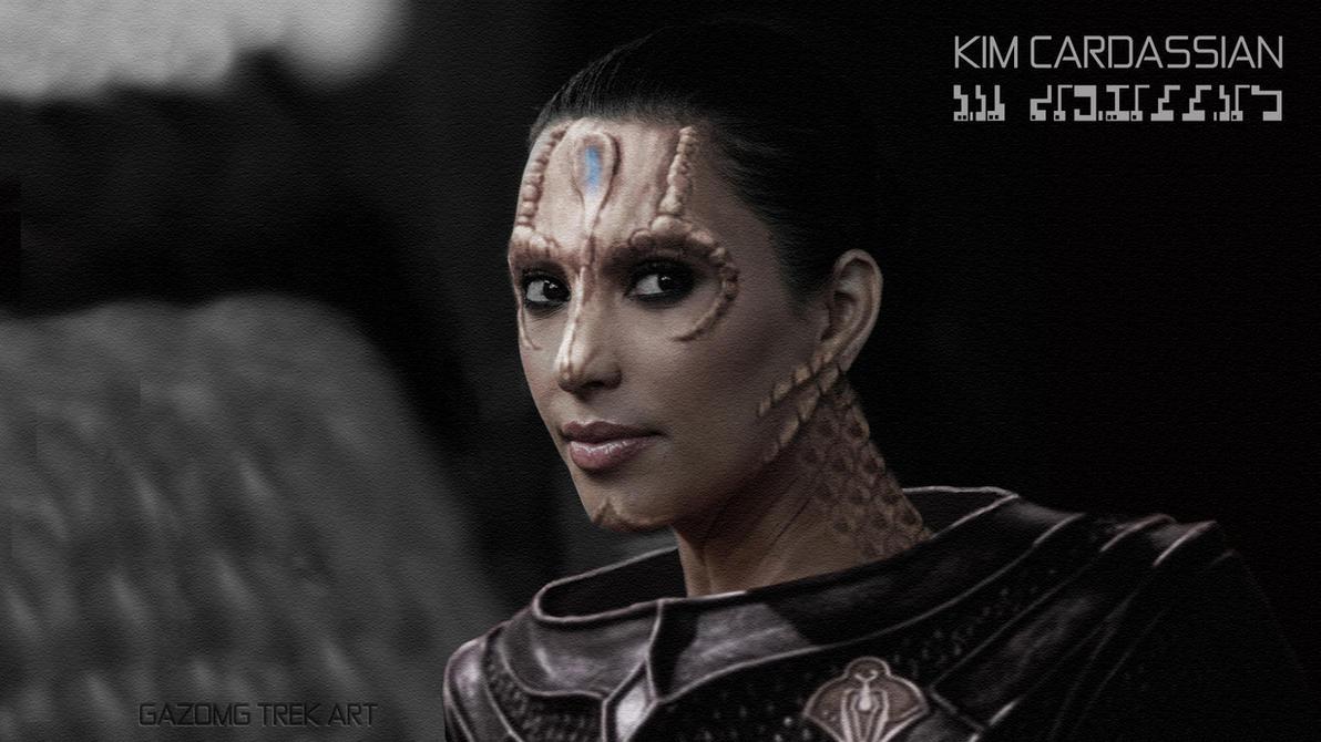 Kim Kardashian- Cardassian Celebrity Star Trek by gazomg