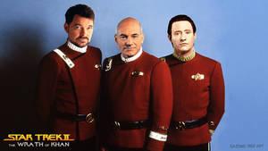 Star Trek Picard Riker Data Wrath of Khan